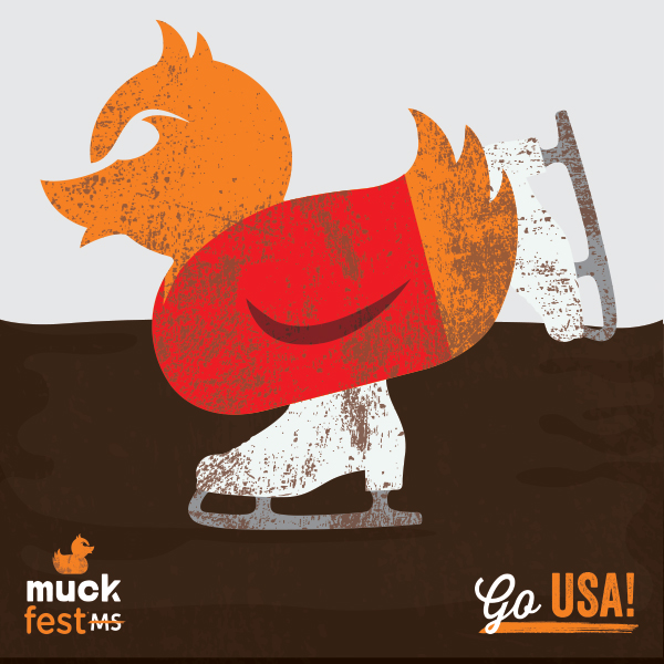 MuckDuck figure skating at the Olympics.
