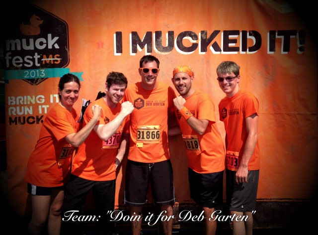 St. Louis MuckFest MS participant and his team