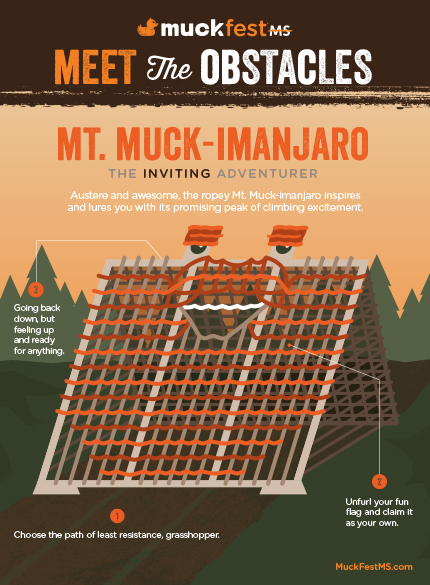 MuckFest MS Obstacle Mt. Muck-imanjaro