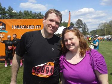 Michael's sister at MuckFest MS Boston in 2013.