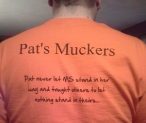 Photo of team t-shirt for MuckFest MS Boston.