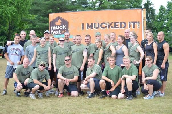 Team photo of Philadelphia participant at MuckFest MS.