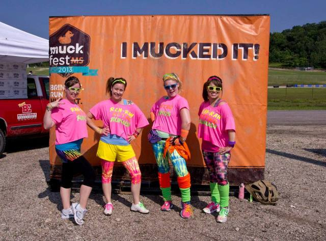 MuckFest MS St. Louis team in neon costume.