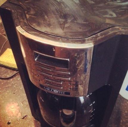 MuckFest MS coffee pot