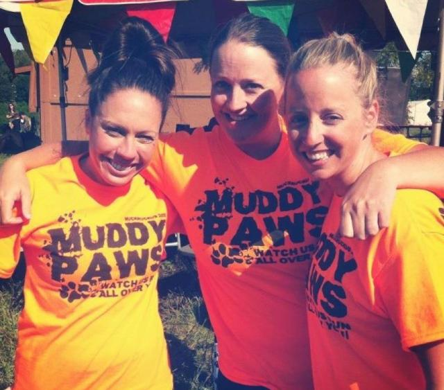 Molly, Casey, and Nellie of Team Muddy Paws