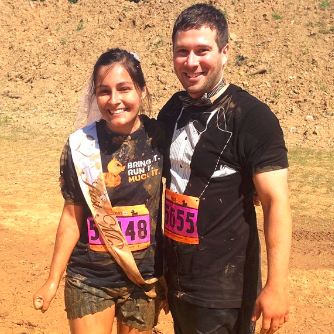 Bride and Groom at MuckFest MS Philadelphia 2014