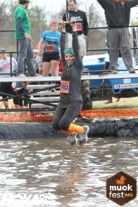 Flying Muckers zip line at MuckFest MS Boston.