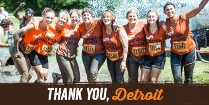 Thank you from MuckFest MS, Detroit!