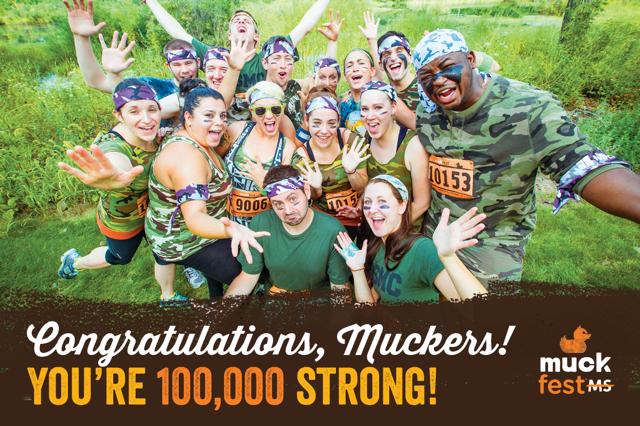 MuckFest MS 100,000th Mucker